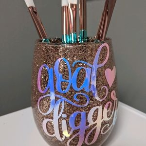 Goal Digger Handcrafted Glitter Accessory Holder